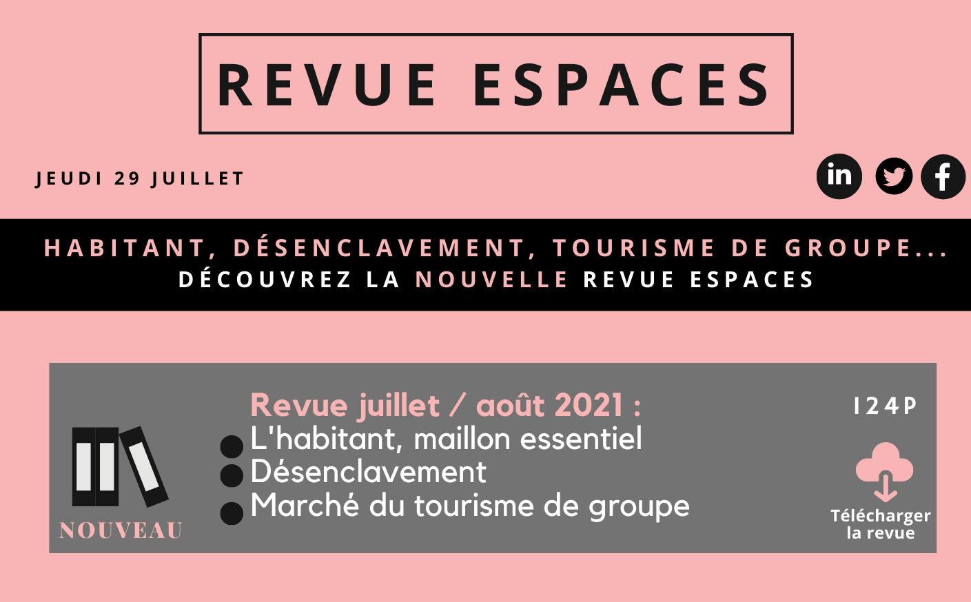 Nouvelle revue : Habitant, désenclavement, tourisme de groupe...